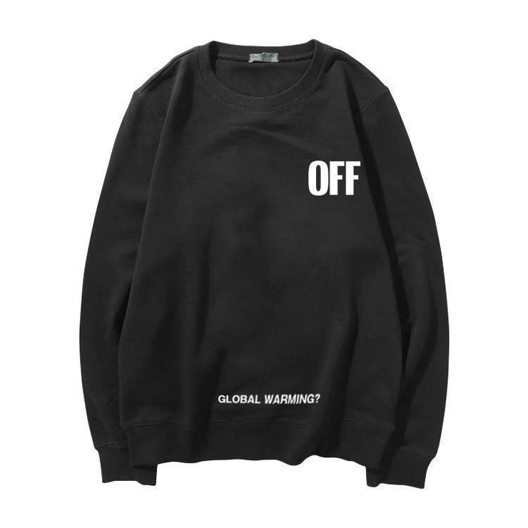 """OFF GLOBAL WARMING"" SWEATER"