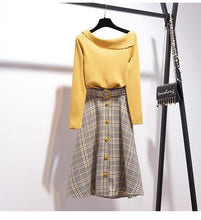 "Load image into Gallery viewer, ""MADELINE"" SWEATER AND SKIRT SET"