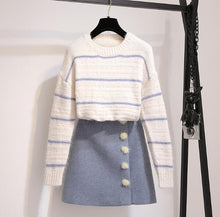 "Load image into Gallery viewer, ""BREE"" SWEATER AND SKIRT SET"