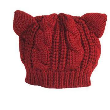 """KITTY CAT"" KNITTED BEANIE"