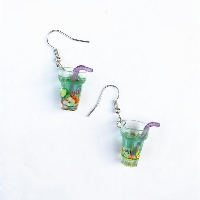 """BUBBLE TEA"" EARRINGS"