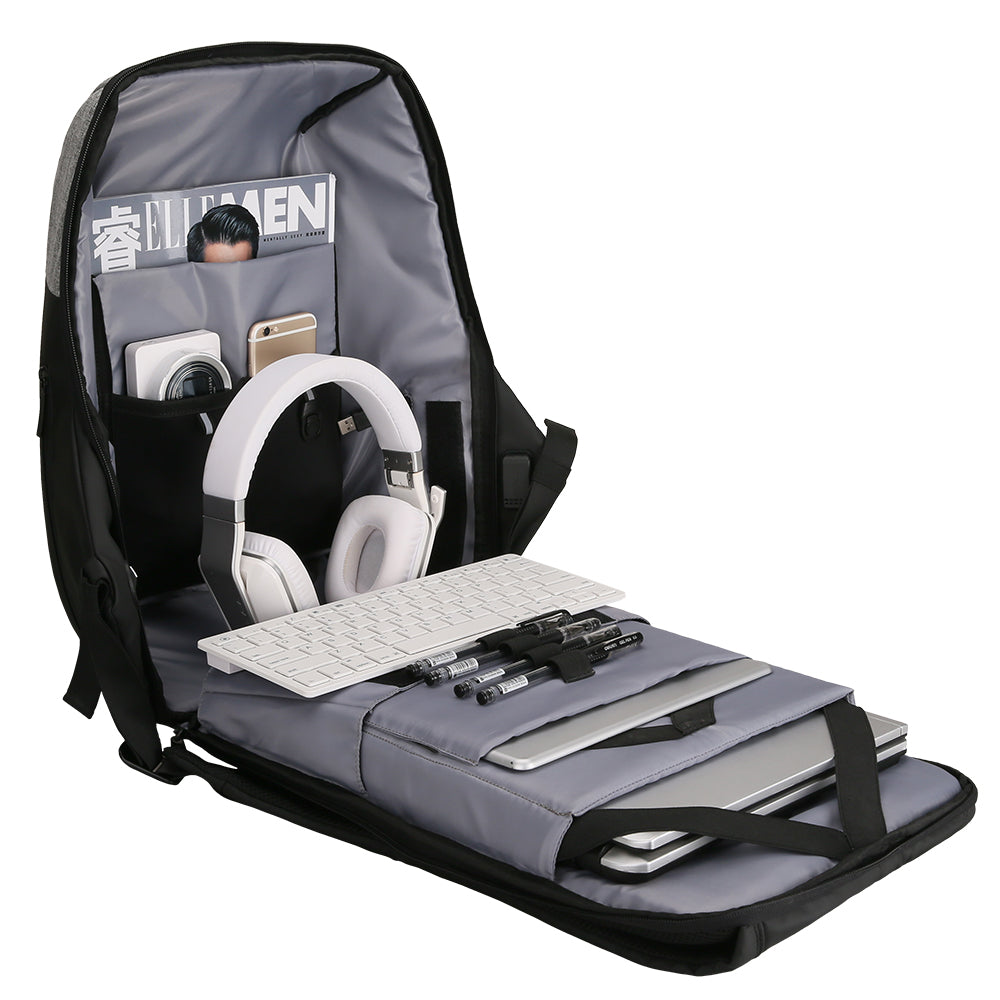 wide opening laptop backpack
