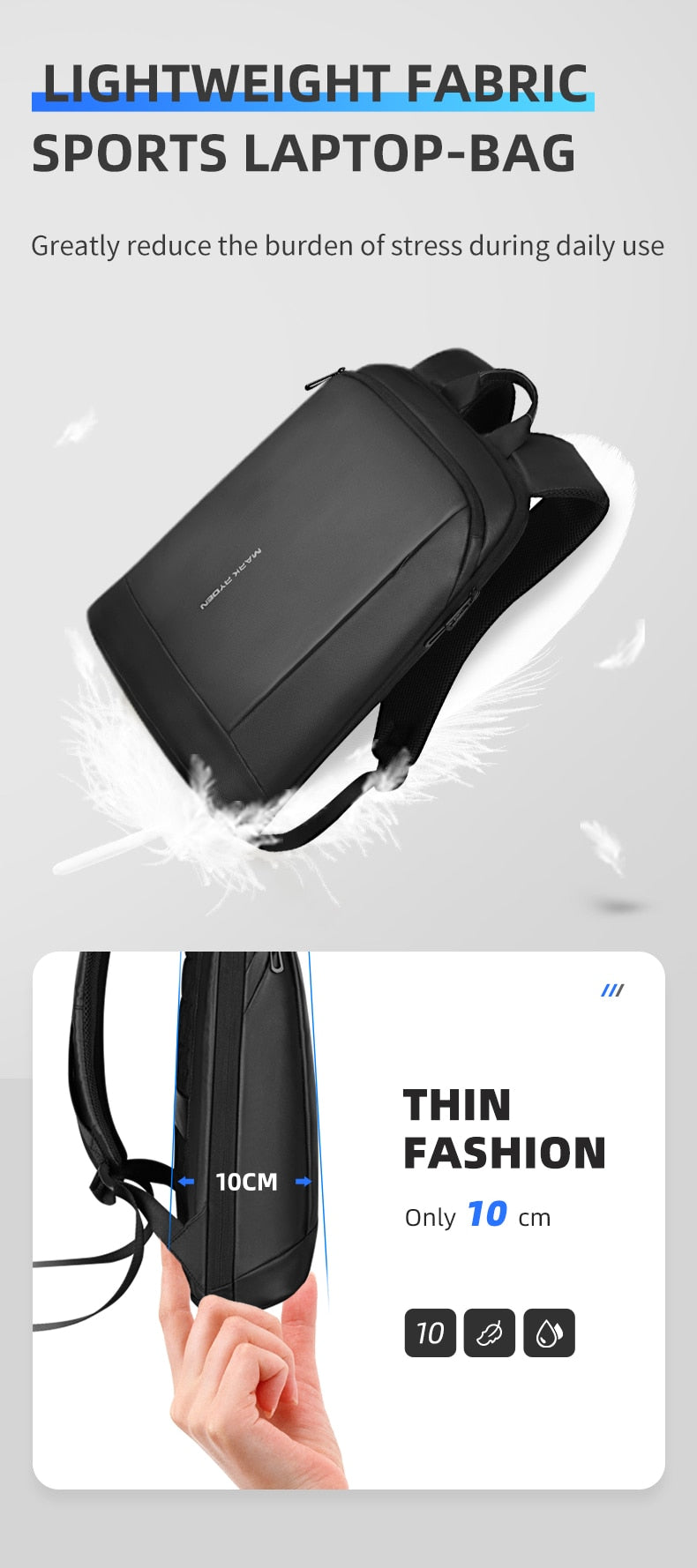 thin backpack for business