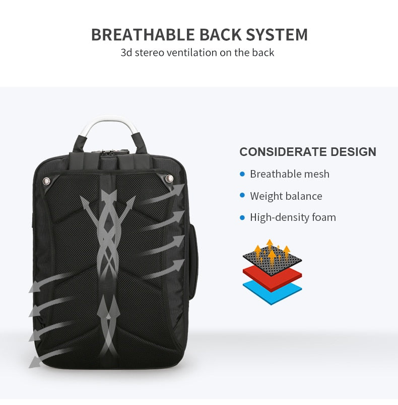 ventilation backpack for laptop