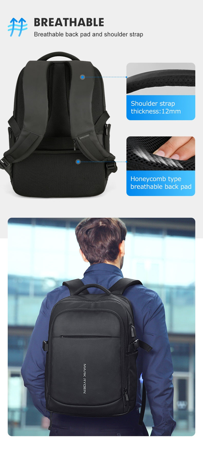 comfortable backpack for laptop