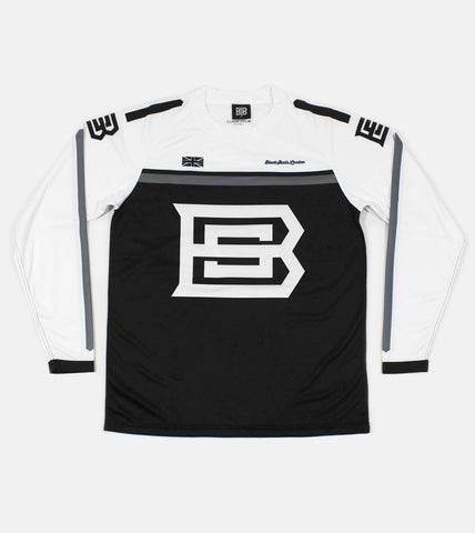 BSL MX JERSEY MADE IN THE UK (BLACK AND WHITE)