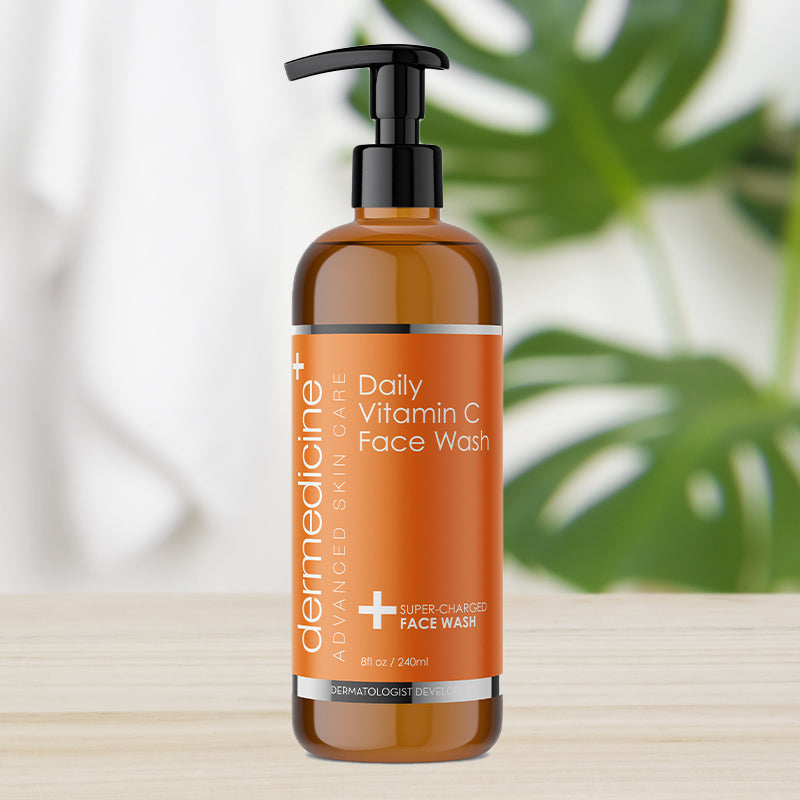 Daily Vitamin C Super-Charged Face Wash w/ Marine & Plant Extracts & Retinol