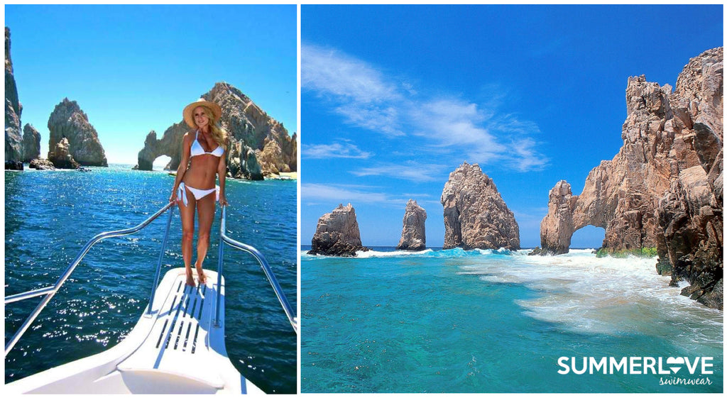 Nila looking gorgeous in her White Ruffle Bikini in Cabo. Click on here to get the look >>