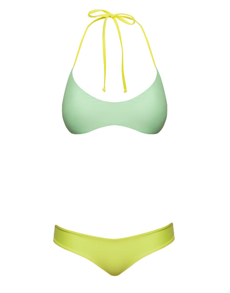 REVERSIBLE SURF TOP - MINT YELLOW