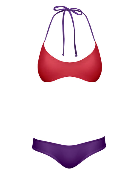 REVERSIBLE SURF TOP - RED PURPLE