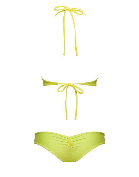 REVERSIBLE SURF BOTTOM - MINT YELLOW