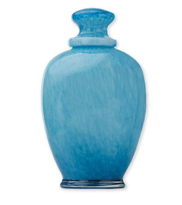 Amphora Aqua Glass Urn