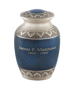 Athens Pewter Blue Urn