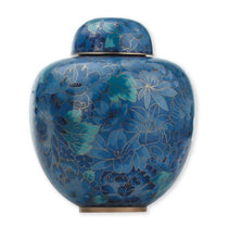 Load image into Gallery viewer, Blue Sapphire Cloisonné Urn