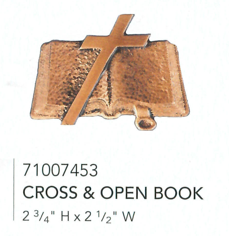 Cross & Open Book Applique