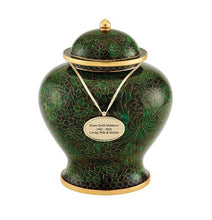 Load image into Gallery viewer, Jade Cloisonné Urn