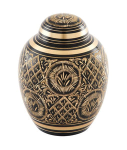 Midnight Ornate Urn