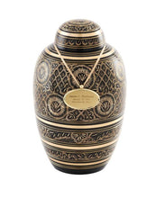 Load image into Gallery viewer, Midnight Ornate Urn
