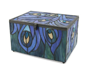 Peacock Memory Chest Urn