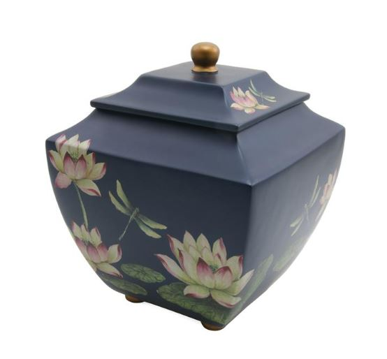 Waterlily Dragonflies Urn