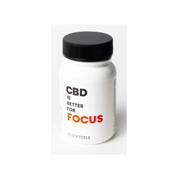 CBD Is Better 750mg CBD Softgels Bottle - Focus - Vape Daze