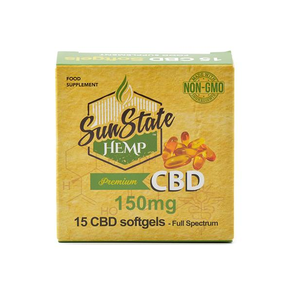 Sun State Hemp - 150mg CBD Softgels - 15 Softgels - Vape Daze