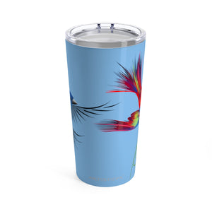Bird Lovers Stainless Tumbler 20oz with custom artwork by ARTISTICPX