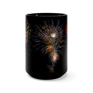 Fireworks Celebration Coffee Mug 15oz - by ARTISTICPX