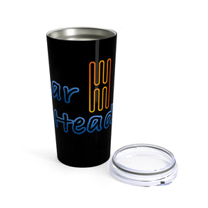 Gear head 20oz travel mug for car enthusiasts - Black