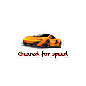 Kiss-Cut Bubble-free Exotic Car Enthusiast Stickers featuring McLaren artwork
