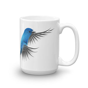 Bird Nerd Coffee Mug with Indigo Bunting Artwork by ARTISTICPX