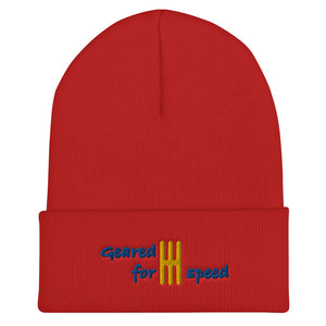 Embroidered Geared for Speed Car Guy Beanie - Multiple Colors available