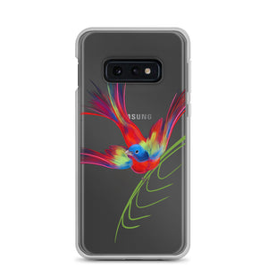 Painted Bunting Samsung Cellphone Case for Bird Lovers - Custom Artwork by ARTISTICPX