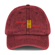 Load image into Gallery viewer, Geared for Speed Embroidered Vintage Twill Baseball Cap - Multiple Colors Available