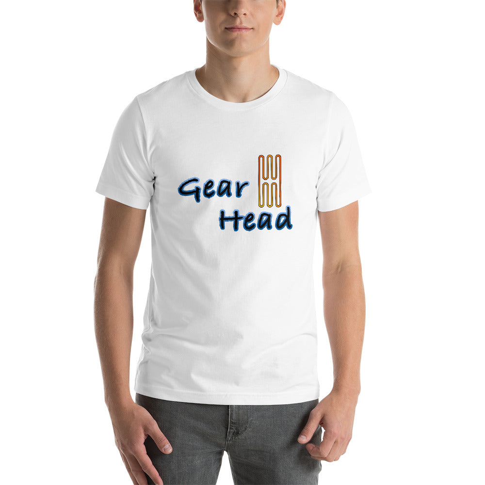 Gear Head Short-Sleeve Unisex T-Shirt for Car Enthusiasts