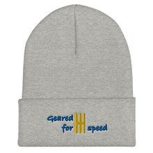 Load image into Gallery viewer, Embroidered Geared for Speed Car Guy Beanie - Multiple Colors available