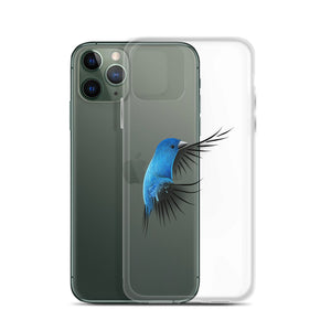 Bird Lovers iPhone Case Featuring a bright blue Indigo Bunting - Custom Artwork by ARTISTICPX