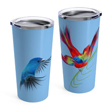 Load image into Gallery viewer, Bird Lovers Stainless Tumbler 20oz with custom artwork by ARTISTICPX