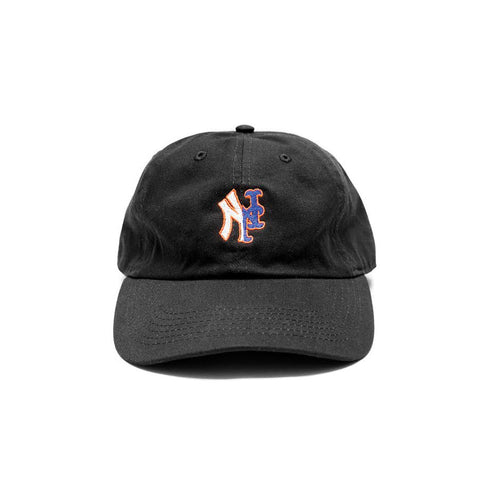 YANKMETS DAD CAP-BLACK