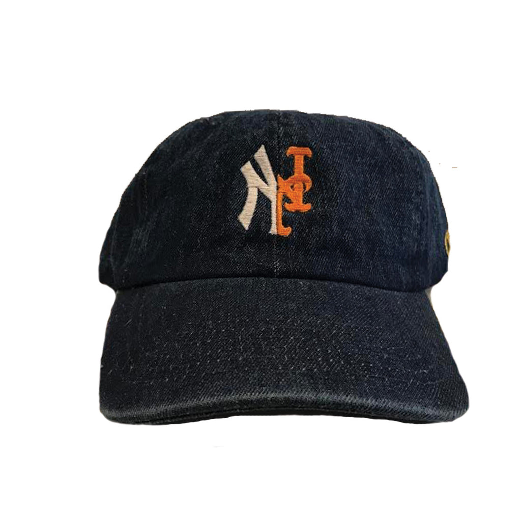 YANKMETS DAD CAP- DARK BLUE DENIM