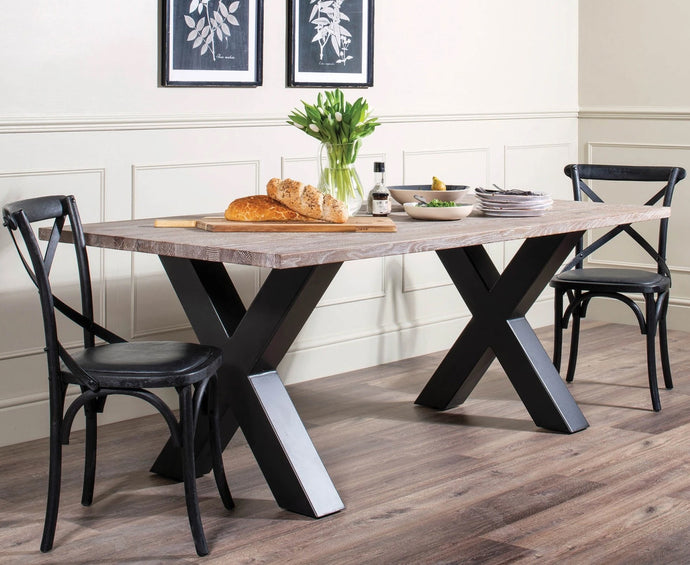 The Mia - Rustic Oak Dining Table