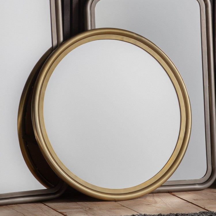 The Mary Round - Mirror Brass Small