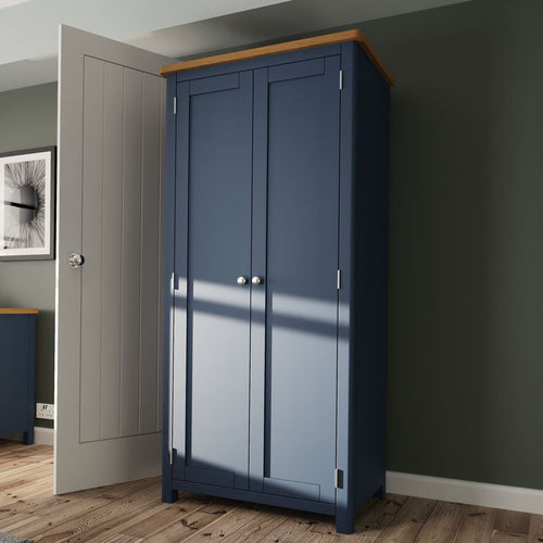 The Jaymie - Blue 2 Door Wardrobe