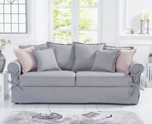 Load image into Gallery viewer, The Kylie - Grey Linen Three Seater Sofa