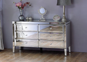 The Regina - 6 Drawer Mirrored Sideboard