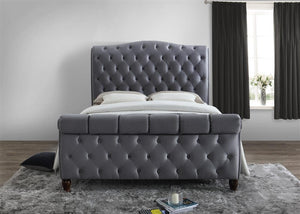 The Angelina - Fabric Grey Bed