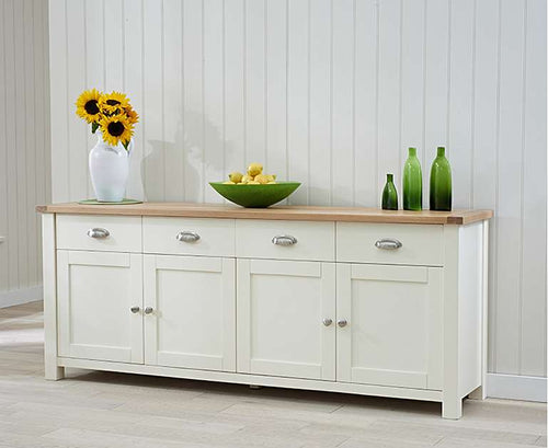 The Primrose -Extra Large Oak and Cream Sideboard