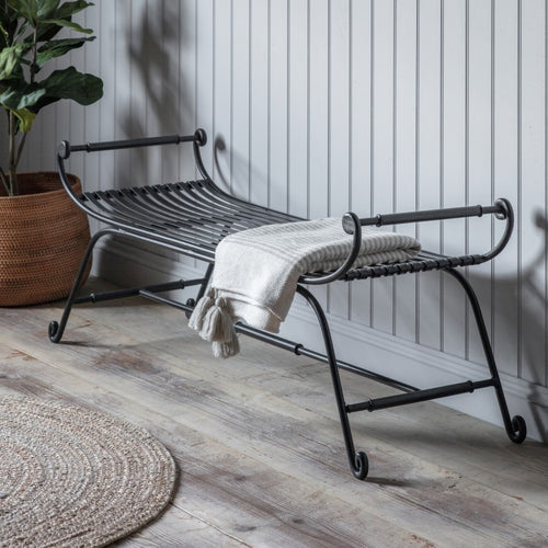 The Tiffany - Black Iron Bench