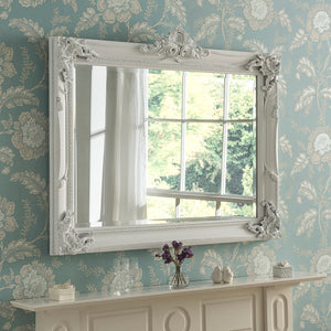The Alisa - White Painted Wooden Mirror