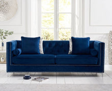 Load image into Gallery viewer, The Anya - Blue Velvet 4 Seater Sofa
